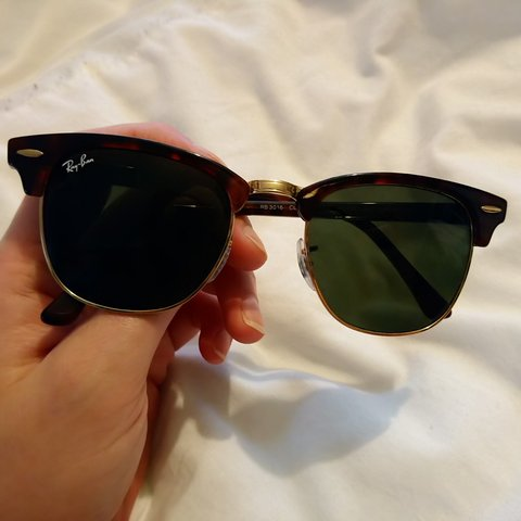 5259d07bf8e Authentic and genuine Ray-Ban clubmaster sunglasses with no - Depop