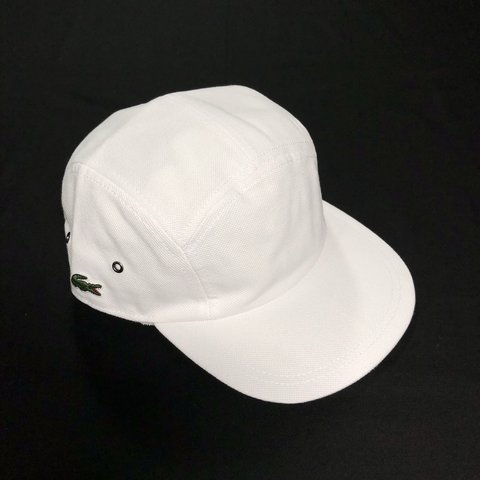 Supreme x Lacoste 5 Panel Cap • White • Logo on side and • • - Depop e47d9a7ffd7