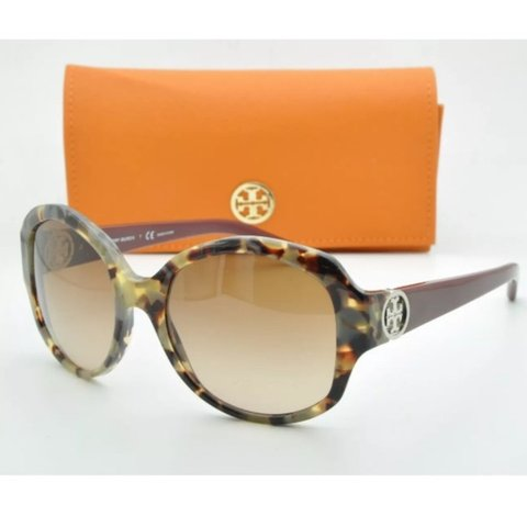 a0971bc0ba69 Authentic Tory Burch Porcini sunglasses and case. Worn a few - Depop