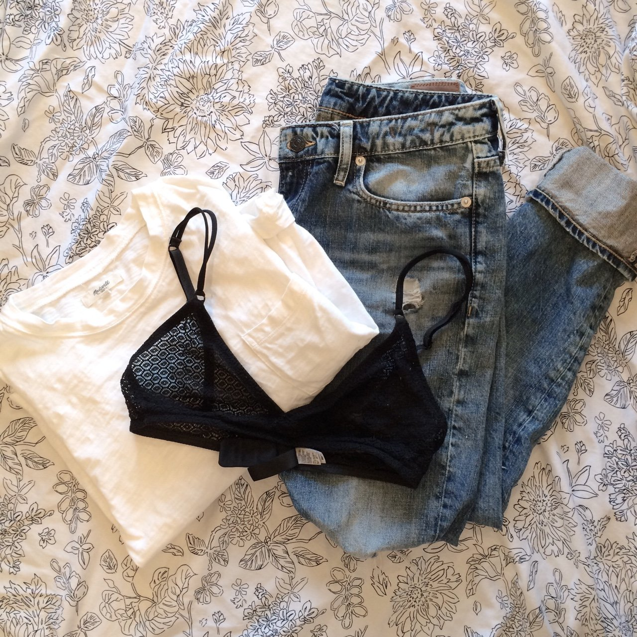 de2454d8cbb Geo Lace Bralette from American Apparel in black. Excellent - Depop