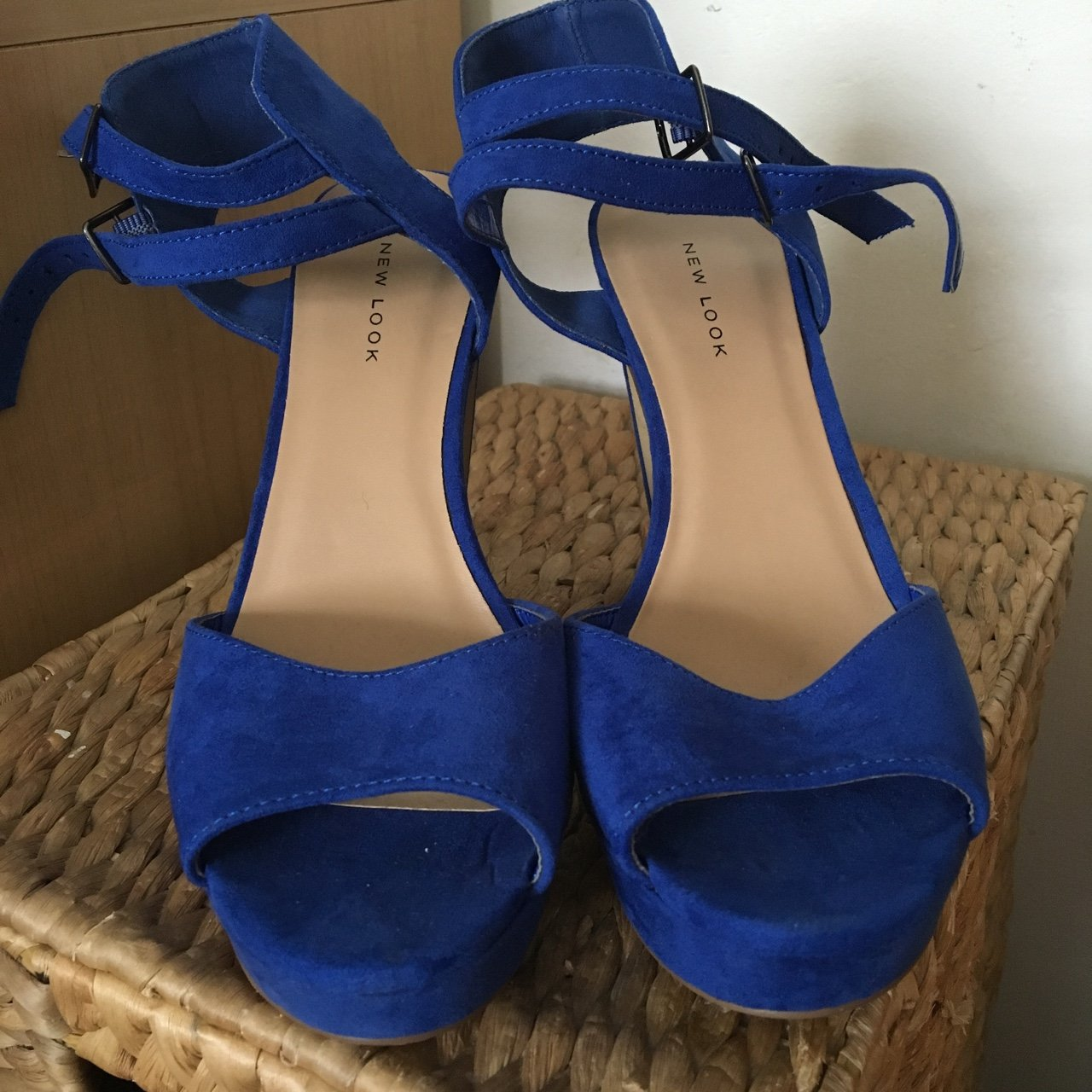 f5103957b62 BRAND NEW blue chunky heels from New Look. I ve taken a of x - Depop