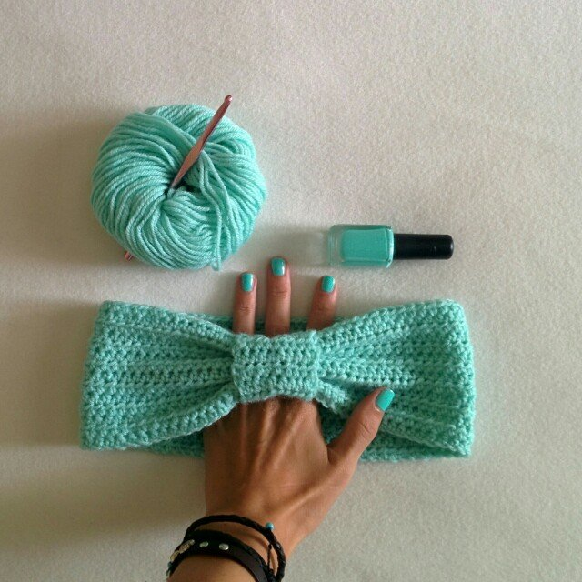 Accessori per capelli color tiffany