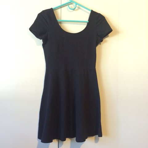 7cbac781f873 Simple black skater dress from forever 21. Made from tshirt - Depop
