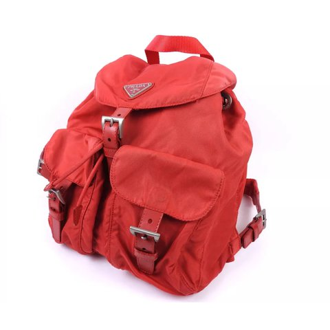 d2d873455d5f @dxztiny. 21 days ago. London, United Kingdom. Genuine PRADA Vela red nylon  backpack ...