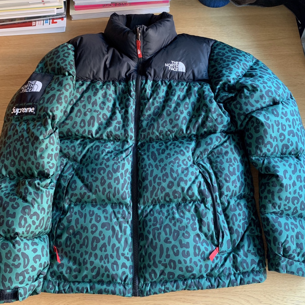 d6dfaafba Supreme x North Face Leopard Nuptse. Size Medium.... - Depop
