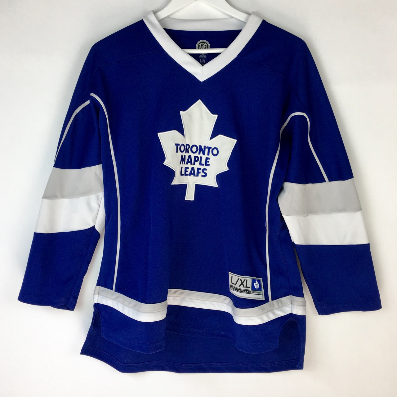 new style 67f7f 8e6ca Royal Blue Toronto Maple Leafs Jersey Official NHL... - Depop