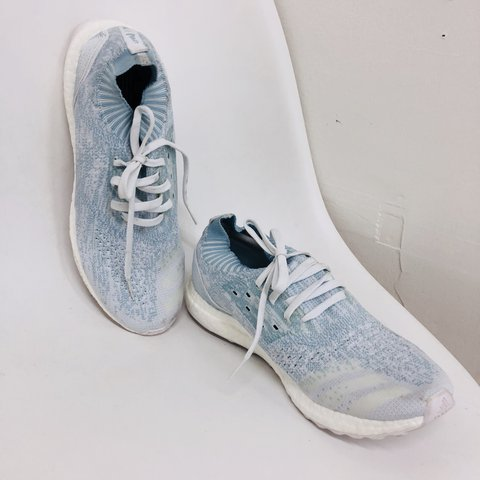 820d8380cc195 Adidas Parley Oceans x Ultra Boost Uncaged in  Icey Blue . - Depop