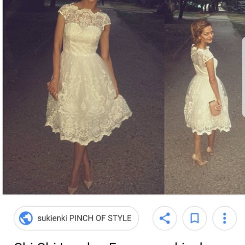 b122fda686 NEW with tags! Chi Chi Frances cream based dress with gold - Depop
