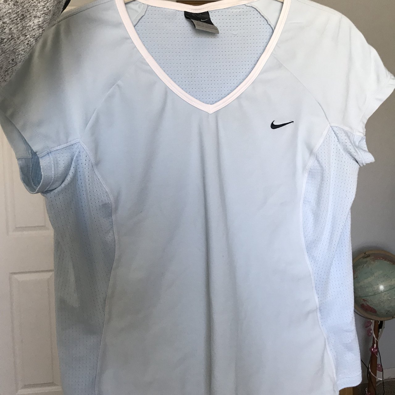 0b1a97424b115 Nike dri-fit t-back tank top size small - could fit up to a - Depop