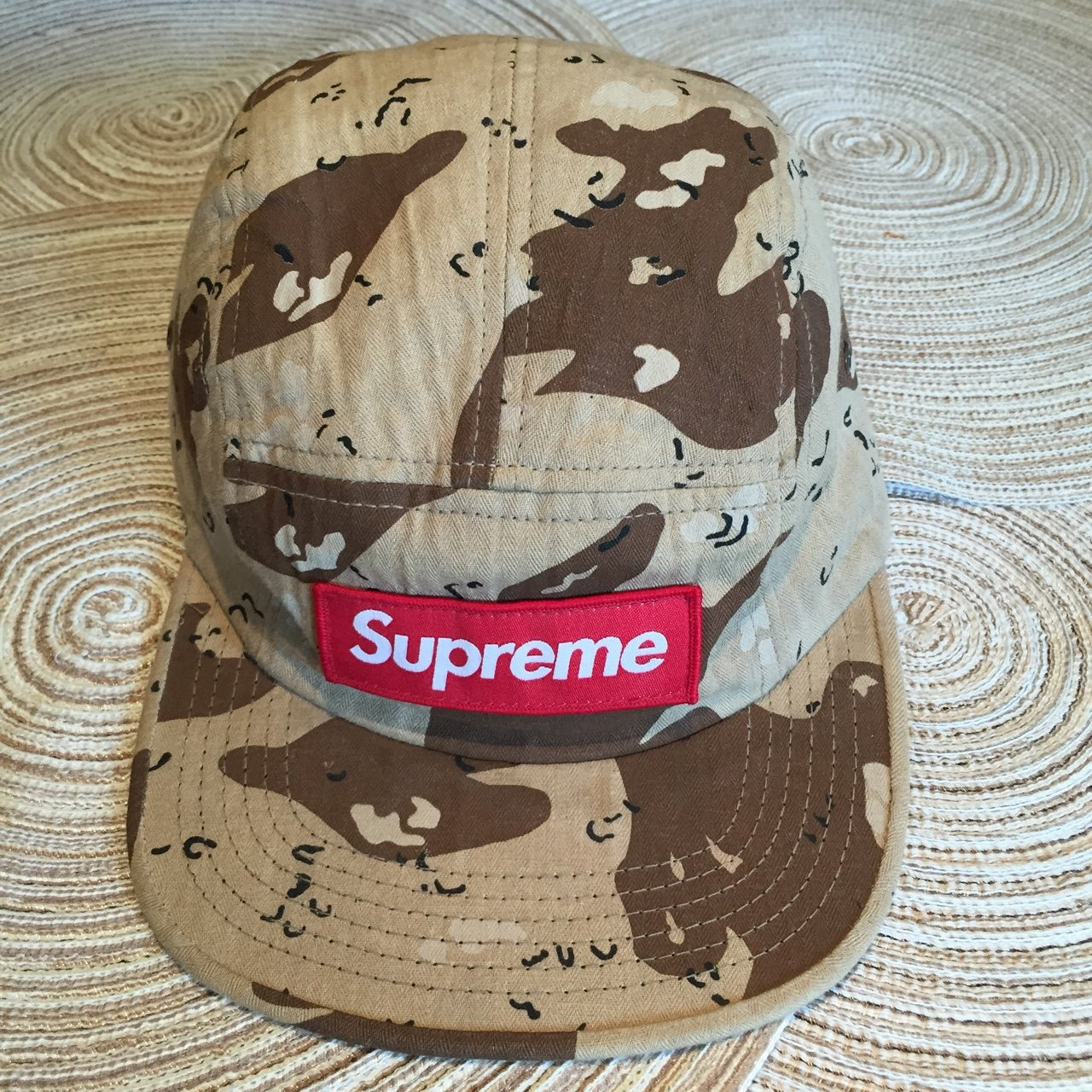 268d48206d3 Supreme Chip Camo Camp Cap. This is easily one of the best - Depop
