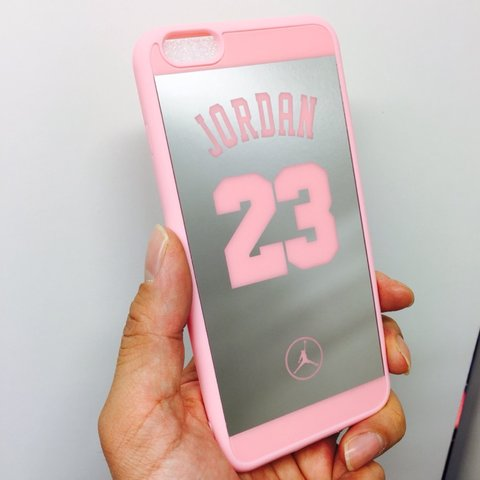 96a09131e658 i7+ Shock defense 23 Jordan mirror case Durable fashion NBA - Depop