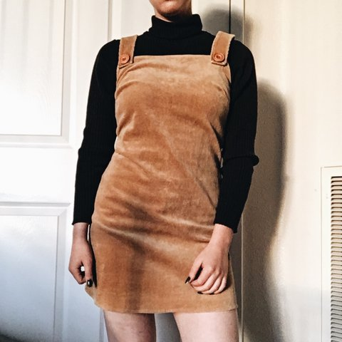 d2dba791551 90 s forever 21 corduroy jumper dress. Fits XS and best on a - Depop