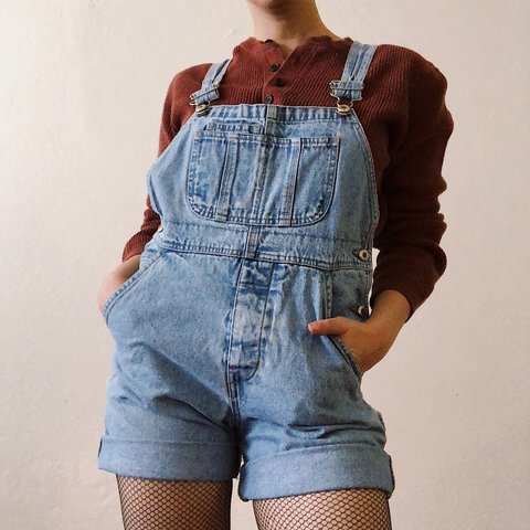 10f65967 @throwbacksvintage. last year. Los Angeles, United States. Super cute Gap vintage  overalls. Kids large ...