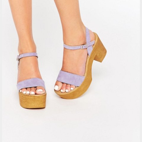 380804f1fd5 ASOS TIGHTROPE Chunky Sandals in lilac. UK Size 4. Worn in - Depop