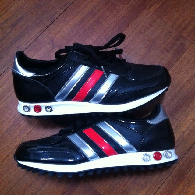 adidas l.a. trainer nere lucide