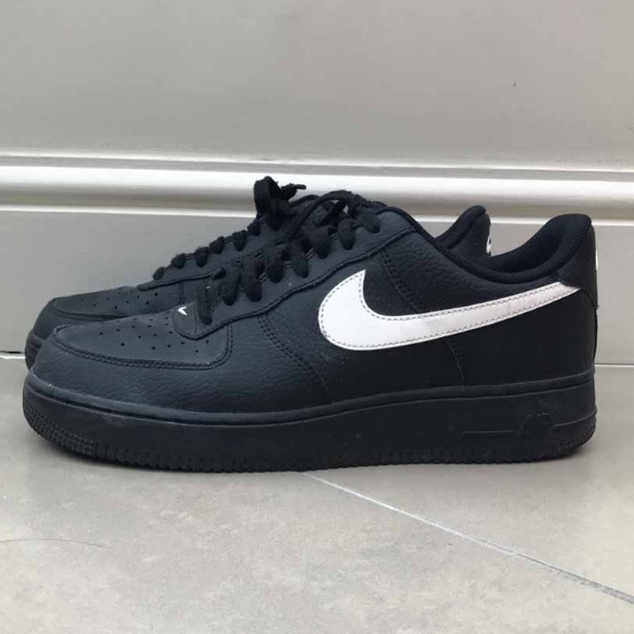"""new styles 19455 cce75 Nike X AJ Tracey """"Black pack"""" air forces af1. Black with 9, - Depop"""