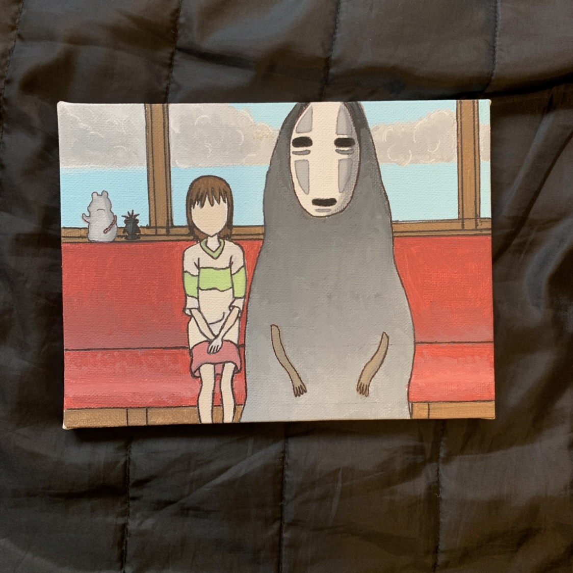 Spirited Away Painting On Canvas 6x8 10 Off Depop