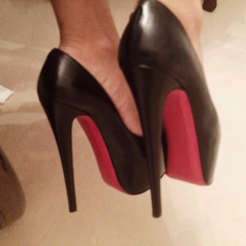 a3bc45327f1b 100% Authentic Christian Louboutin Daffodile Heels. from too - Depop