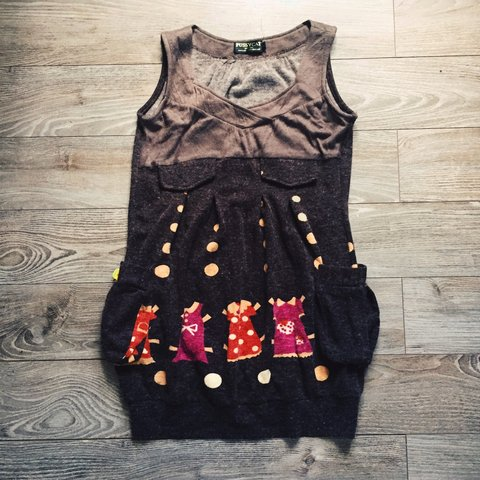f37af9c6ca Cute obscure style knitted dress. Size small