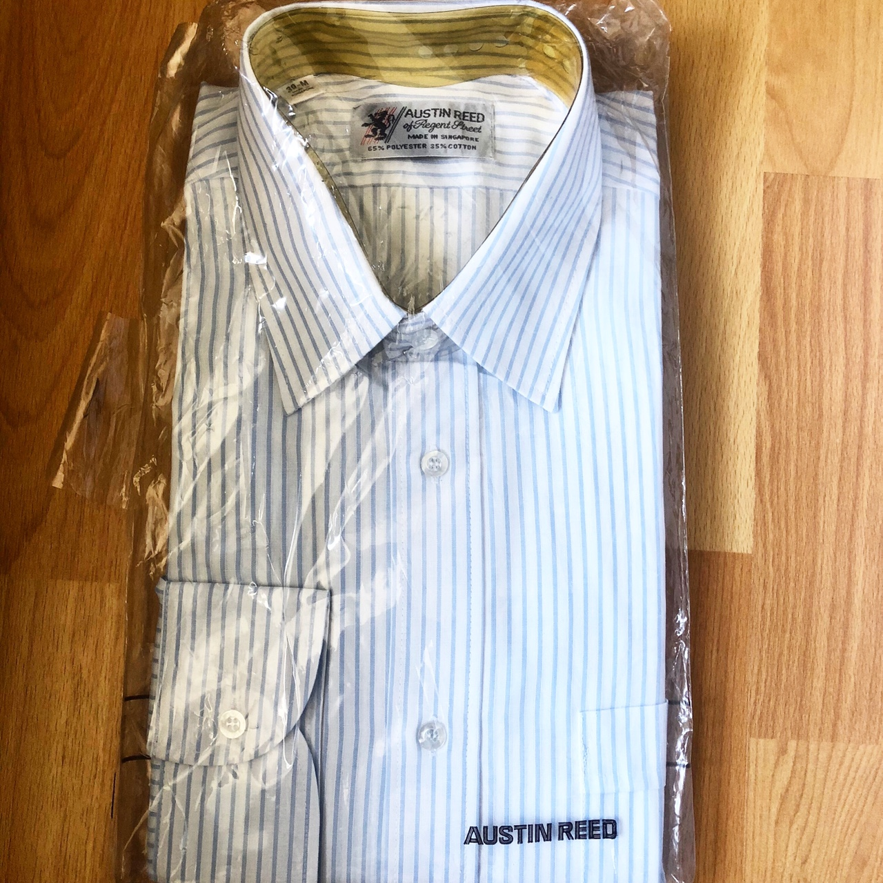Brand New Austin Reed Blue White Striped Mens Depop
