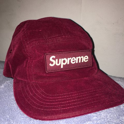 ca1b95c26e6 Velvet red Supreme hat. One size fits all. strap back  steal - Depop