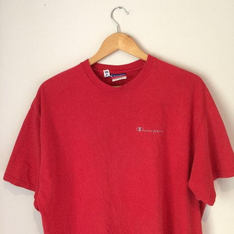 688b78c4c @eddiebovill1. 3 years ago. United Kingdom. Vintage red Champion T shirt. Size  large ...