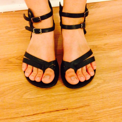 3e7dc5d224a Gladiator sandals! Very comfy and grabs your feet!  sandals - Depop