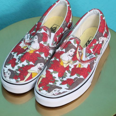 ba3dffa7a3 Brand new VANS Beauty and the Beast Belle Slip In Shoes. 7.5 - Depop