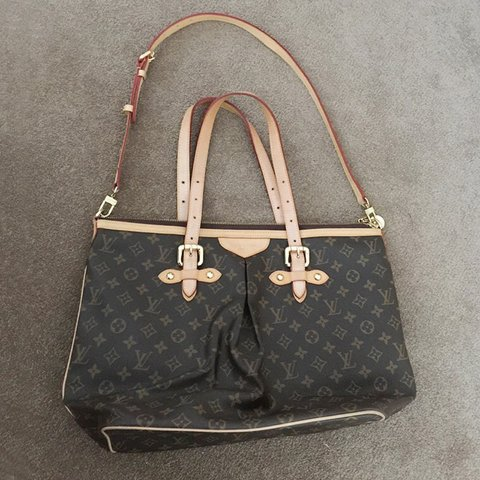 88045cea44616 GM Louis Vuitton Palermo bag. Liv bag. The leather has (not - Depop