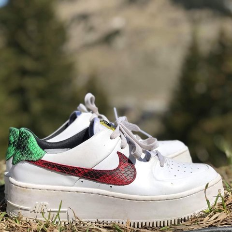 76a9c3d5eed48 NIKE AIR FORCE 1 SAGE LOW PREMIUM ANIMAL SIZE 4 SOLD... - Depop