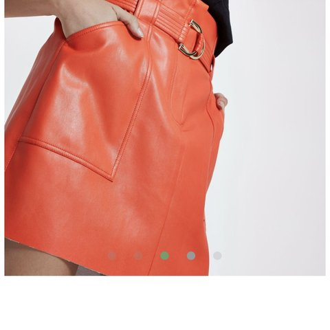 f5e32deaae @k8cee. 9 months ago. Edinburgh, United Kingdom. River island red paper bag  waist faux leather mini skirt.
