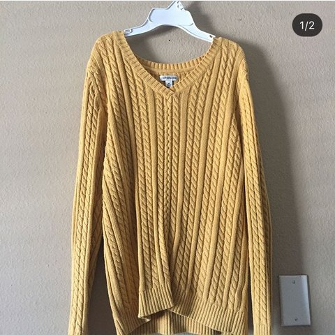size  med-large perfectly oversized cable knit sweater. cute - Depop b6c8cbaea