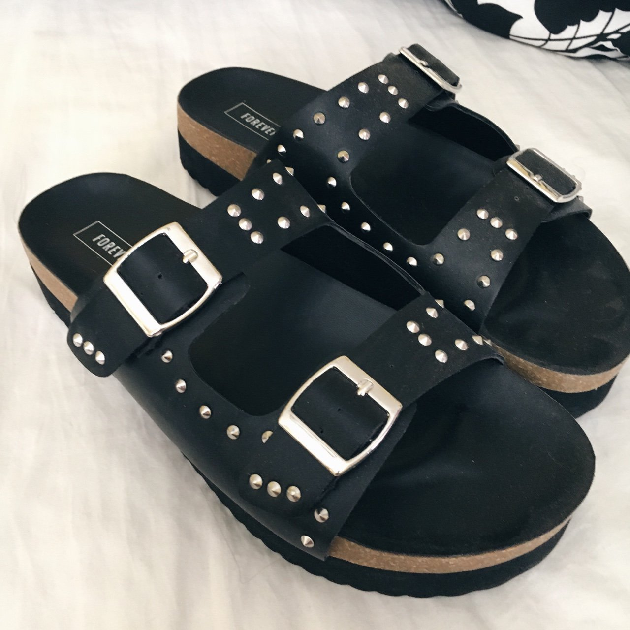 6955dfd14c94 Studded platform sandals from Forever 21. These edgy shoes - Depop