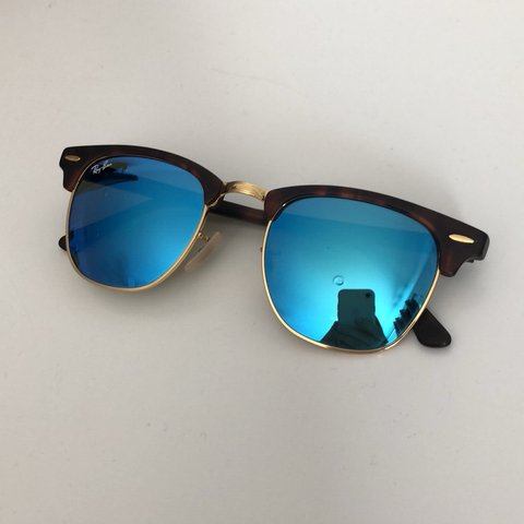"1501dd0dfc2bd0 ON HOLD!!!! Ray Ban Clubmaster Flash Lenses. ""Blue Flash"" as - Depop"