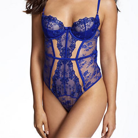 acc052f4d98e @alicemclean. last year. Deeside, United Kingdom. Ann Summers limited Posy  blue lace bodysuit with thong detail back ...