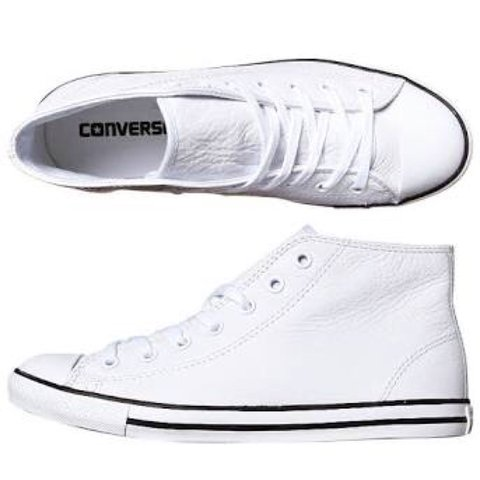 e69d80c461bf Converse White Leather Hi-Tops   Size 6 (AUS)   Brand New - Depop
