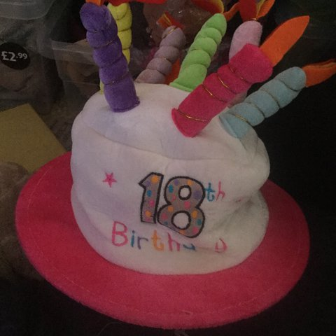 18th Birthday Hat Which Sings 0