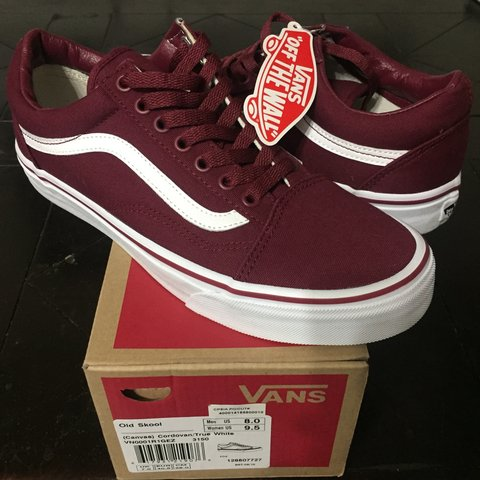 6877b42354ee New never worn burgundy vans old school - Depop