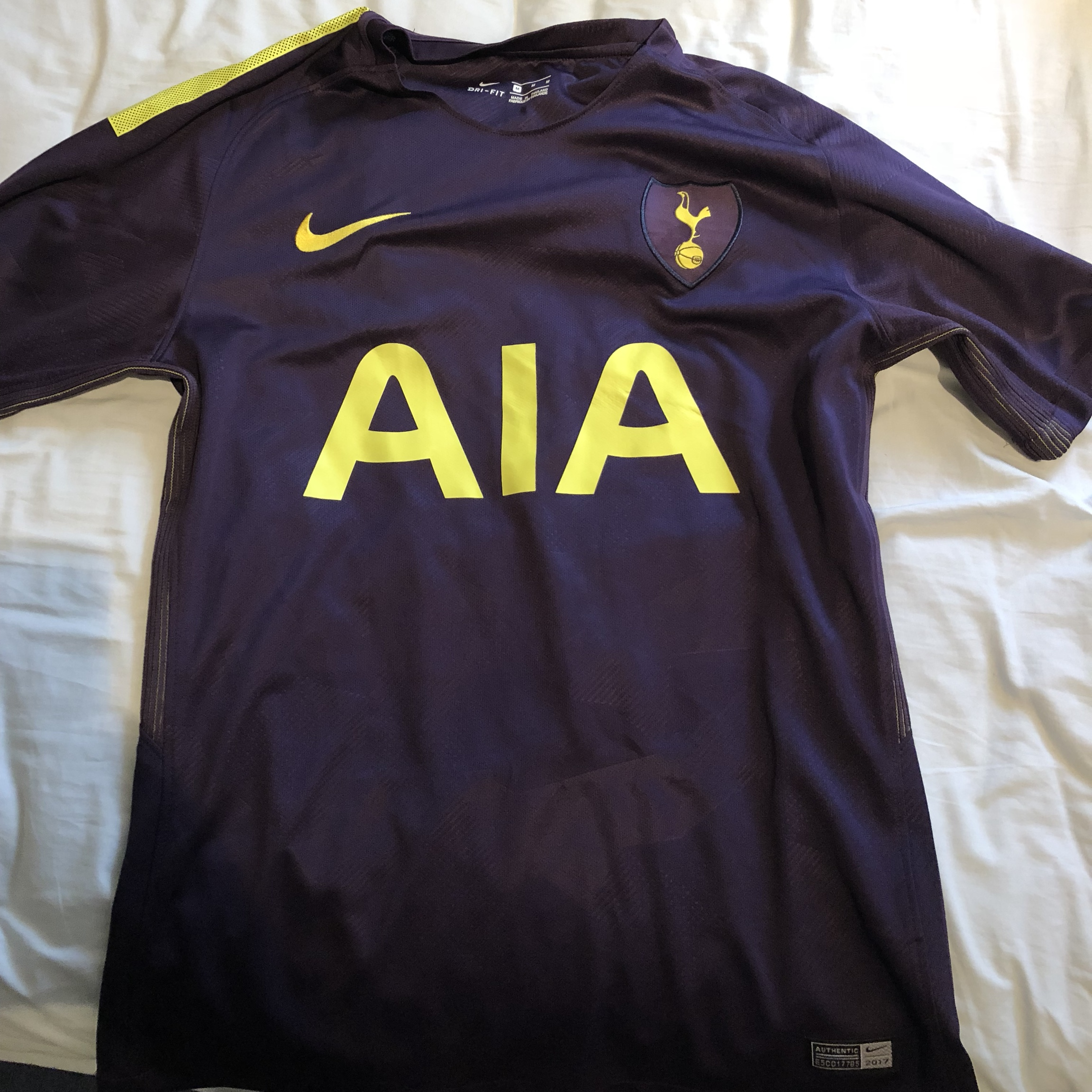 reputable site ddec1 fe92d Tottenham 3rd Kit 2017-2018 top. Like new condition... - Depop
