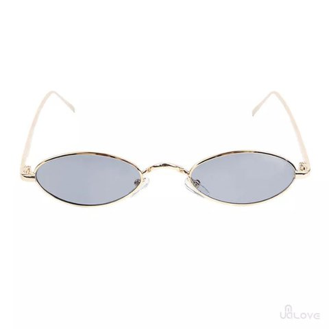 97b54d5cb @vintageprxct. last year. Saltash, United Kingdom. y2k small oval sunglasses  with black lenses and gold frames. ...