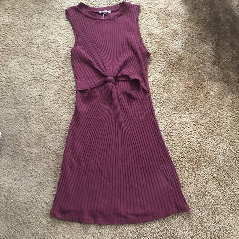 4440b1b7e9a LA Hearts   Maroon Cut out dress Only tried on Never worn by - Depop