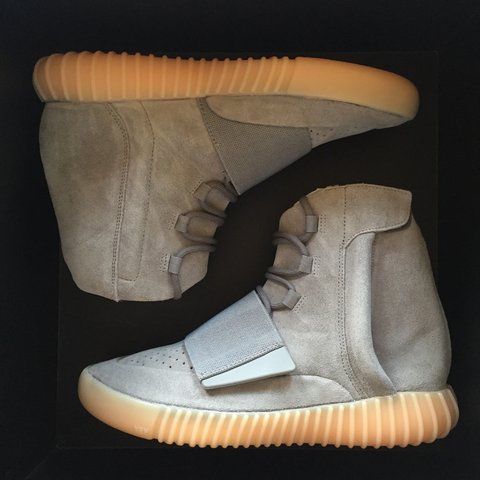 35a6729edd1 Adidas Yeezy Boost 750 Grey Gum  Glow in the dark  - Selling - Depop