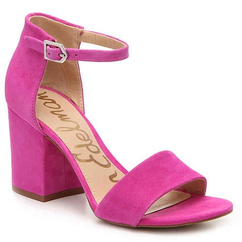 7265a3f552c3 SAM EDELMAN HOT PINK TORRENCE SANDAL W  BLOCK HEEL    The a - Depop