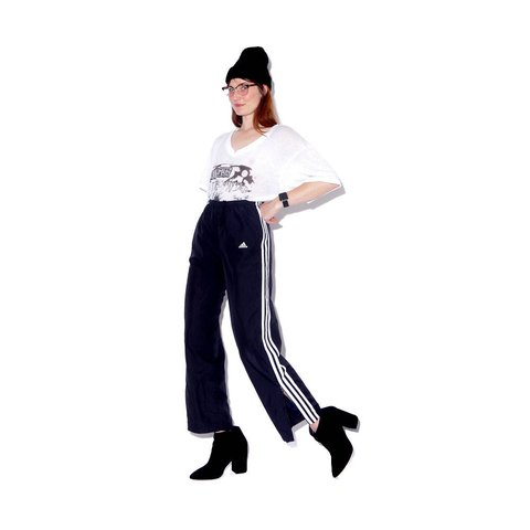4ee094d0b @blackmoonsky. last year. San Diego, CA, USA. vintage 90s ADIDAS TRACK PANTS  / black w white side stripes ...