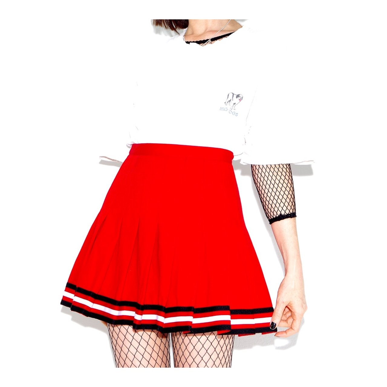 55e3f6b3d @blackmoonsky. 4 months ago. San Diego, United States. real VINTAGE CHEER SKIRT  high waisted ...
