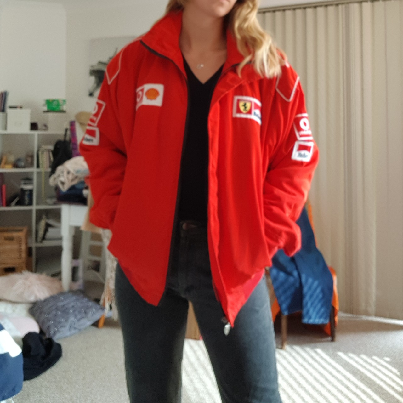 Price Reduced Amazing Vintage Red Puffer Bomber Depop