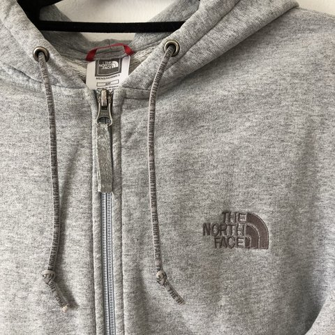 1b23d26dee the north face zip up in men's small, worn but good bar the - Depop