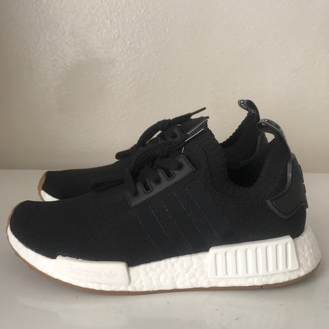 25f7d1ddc0f9e Adidas NMD PK Black Gum Sole US Size 8 Men s Worn twice for - Depop