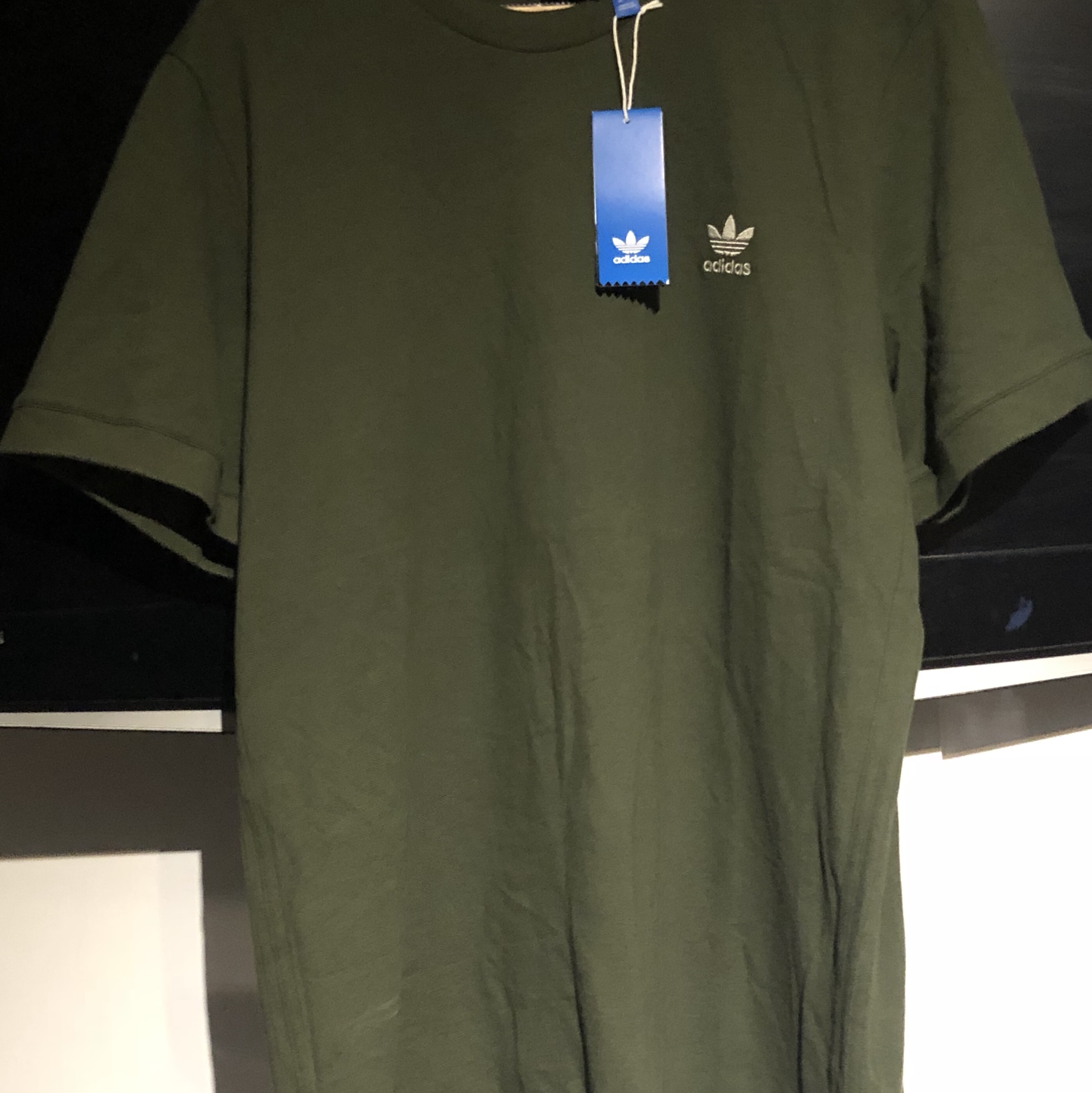 Adidas Khaki Green Long T Shirt Brand New with Tags
