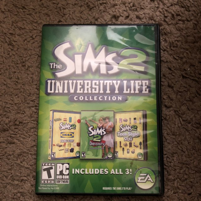 the sims 2 university life collection  never used!!!    - Depop